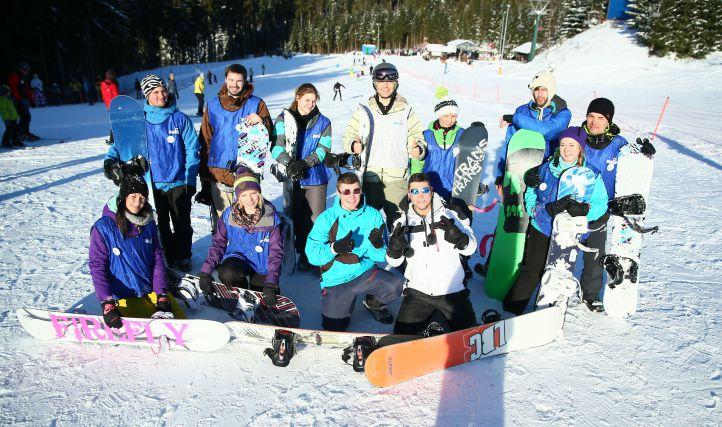 Grundkurs bei der Learn2Ride Snowboardschule in Oberhof
